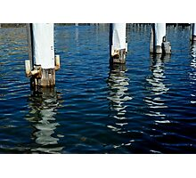 3 Piles in the harbour Photographic Print