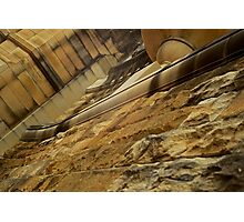Sandstone wall-Darling Harbour Photographic Print