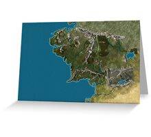 Map of Middle-Earth Greeting Card