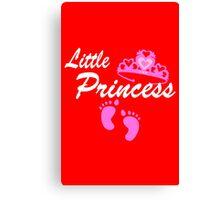 Little Princess Gender Reveal Game funny nerd geek geeky Canvas Print