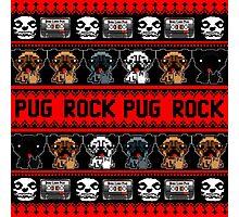 PUG ROCK PIXEL Photographic Print