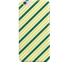 Green And Yellow Diagonal Stripes iPhone Case/Skin