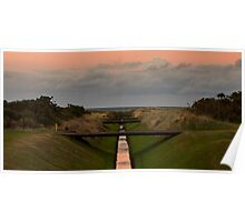 LOSSIEMOUTH - SUNDOWN ON GOLF Poster