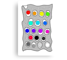 Rainbow Dots Canvas Print