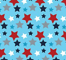 Red White And Blue Stars by kwg2200