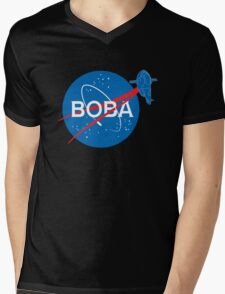 BOBA NASA Mens V-Neck T-Shirt