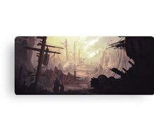 Wasteland Journey- The City of Iraxes Canvas Print