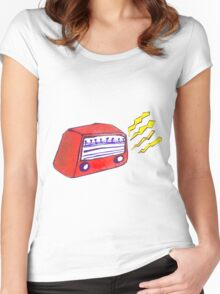 Retro Radio Women's Fitted Scoop T-Shirt