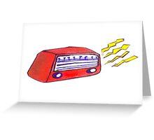 Retro Radio Greeting Card