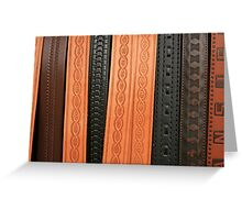 Stamped Belts Greeting Card