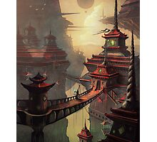 High Mountain Temples Photographic Print