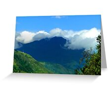 Misty Peaks In The Andes Greeting Card