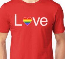 L♥ve (Gay Pride) Unisex T-Shirt