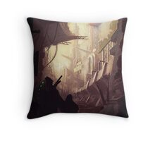 Wasteland Journey- Inside Iraxes Throw Pillow