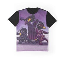 Samurai Ninja Penguin Team Graphic T-Shirt