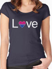 L♥ve (Bi Pride) Women's Fitted Scoop T-Shirt