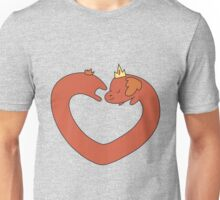 Hot Dog Princess Love Heart Unisex T-Shirt