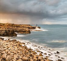 Sunset Storms at Portland Bill by Chris Frost Photography