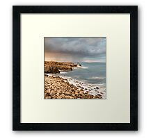 Sunset Storms at Portland Bill Framed Print