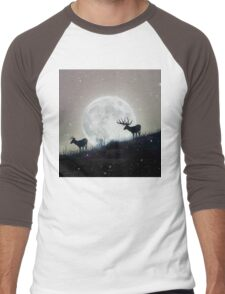 moon deer Men's Baseball ¾ T-Shirt