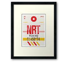 NRT Baggage Tag Framed Print