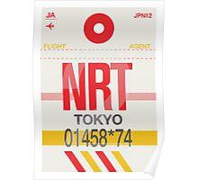 NRT Baggage Tag Poster