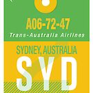 SYD Baggage Tag by axemangraphics