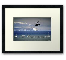 Chopper Over The Needles Framed Print