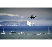 Chopper Over The Needles Photographic Print