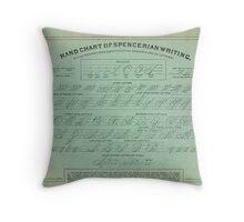 Hand Chart of Spencerian Writing   Throw Pillow