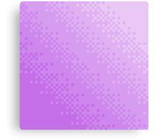 Purple Pixel Wave Canvas Print