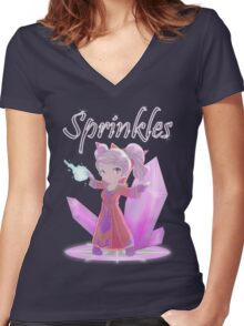 Chibi Gnome Mage - Sprinkles Women's Fitted V-Neck T-Shirt