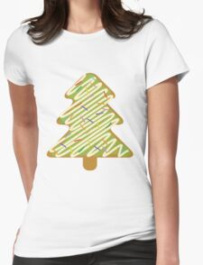 Christmas Tree Gingerbread  Womens Fitted T-Shirt