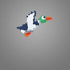 8-Bit Duck - Gray by nellyb