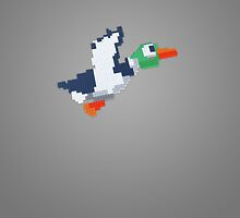 8-Bit Duck - Gray by nellyb