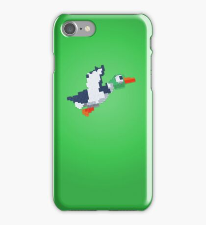 8-Bit Duck - Green iPhone Case/Skin
