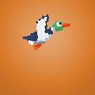 8-Bit Duck - Orange by nellyb