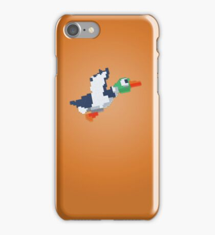 8-Bit Duck - Orange iPhone Case/Skin