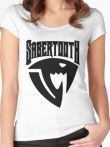 Sabertooth (Black) Women's Fitted Scoop T-Shirt