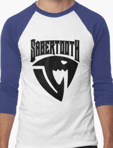 Sabertooth (Black) Men's Baseball ¾ T-Shirt