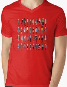 Pixel people Mens V-Neck T-Shirt