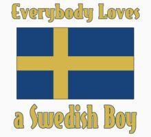Everybody Loves a Swedish Boy Kids Tee