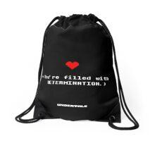 UNDERTALE ·BAG: filled with determination Drawstring Bag