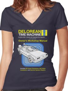 Time Machine Manual Women's Fitted V-Neck T-Shirt