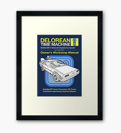 Time Machine Manual Framed Print