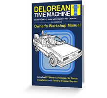 Time Machine Manual Greeting Card