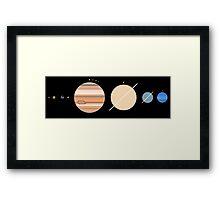 Minimalistic Solar System Framed Print