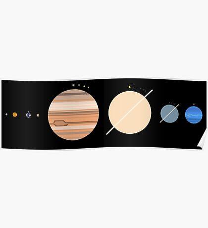 Minimalistic Solar System Poster