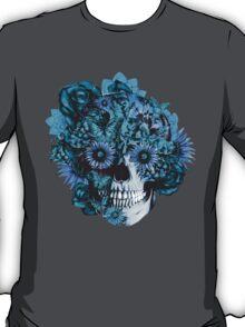 Blue grunge ohm skull.  T-Shirt