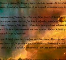 Desiderata over star formation Sticker